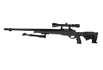 WELL VSR Tactical with Scope & Bipod (MB11D) - BLACK color