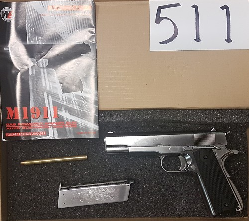WE 1911 Silver with Black Grip**CLEARANCE(511)