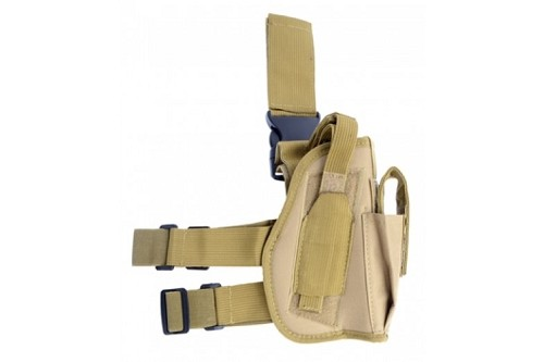 Firepower Universal Drop Leg Holster Right Leg - Tan