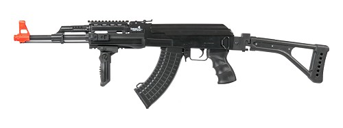 Lancer Tactical LT-16F TACTICAL AK-47 AEG METAL GEAR w/SIDE FOLDING STOCK