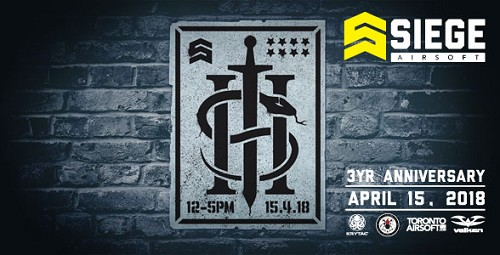 Siege Airsoft - 3 Year Anniversary Birthday Bash! Game Ticket.