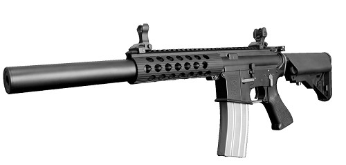 "Velocity Arms M4 7.2"" TX CQB /w 200mm Silencer Power Up - Made by DeepFire"