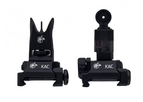 Knight's Armament Airsoft Back Up Iron Sights - BLACK