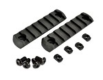 APS 2PC Polymer M-Lok 7 SLOT Rail SET - BLACK