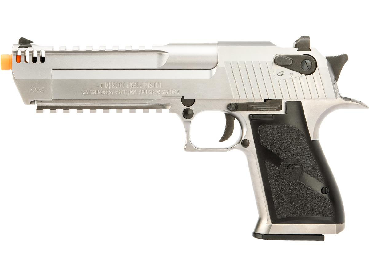 Desert Eagle Licensed L6 50ae Full Metal Gas Blowback Airsoft Pistol By Cybergun Silver