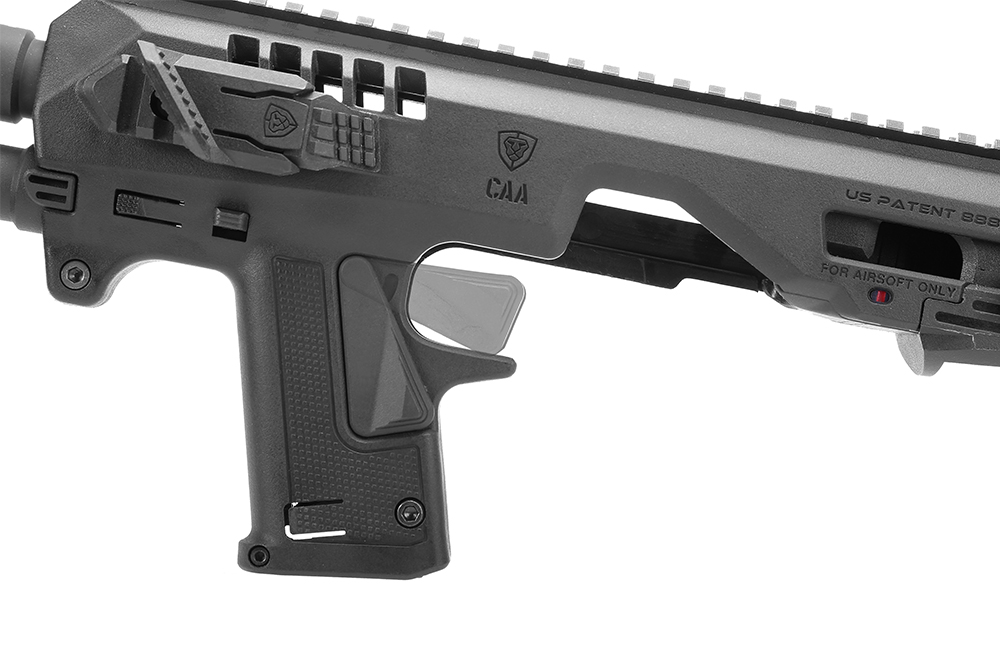 CAA Airsoft Micro Roni Pistol Carbine Conversion Kit for GLOCK 17 and  G-Series GBB Pistols - BLACK