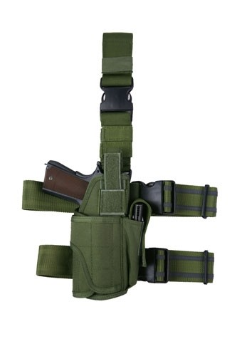 A.C.M. Universal Hurricane Style Drop Leg Holster (Right only) - OD