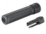 Knight's Armament Airsoft Fully Lic. KAC QDC CQB Quick Detach Barrel Extension in Black OEM by Madbull Airsoft - CCW