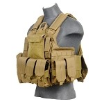 Lancer Tactical CA-303T Tactical Strike Plate Carrier - TAN