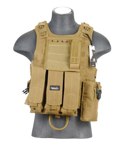 Lancer Tactical CA-304K Tactical Plate Carrier - TAN