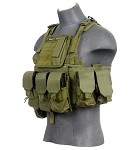 Lancer Tactical CA-305GN Tactical Assault Plate Carrier - Olive Drab