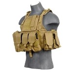 Lancer Tactical CA-305TN Tactical Assault Plate Carrier - TAN