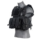 Lancer Tactical CA-307BN Modular Chest Rig - BLACK
