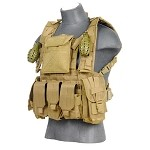 Lancer Tactical CA-307TN Modular Chest Rig -  TAN