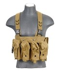 Lancer Tactical CA-308T AK Chest Rig - TAN