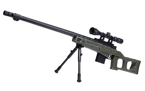 WELL MB4409D Sniper Rifle /w Scope and Bipod - OD
