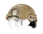 Lancer Tactical Basic Plastic Fast Helmet with visor - DARK EARTH