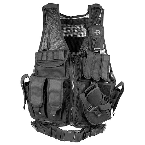 Valken Crossdraw Vest (Adult) - BLACK