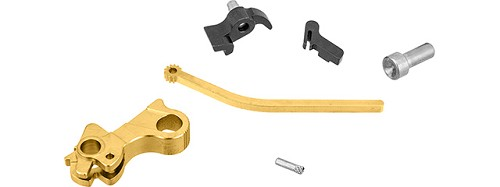 Airsoft Masterpiece CNC Steel Hammer & Sear Set for Hi-Capa [S Style Commander] - GOLD
