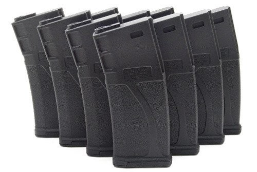 BLUEBOX 140rd Polymer Midcap Magazine for M4/M16 - BLACK - BOX of 10