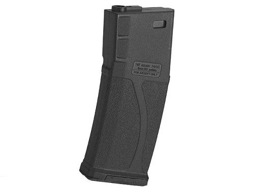 BLUEBOX 140rd Polymer Midcap Magazine for M4/M16 - BLACK