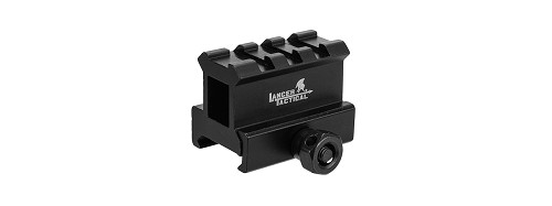 Lancer Tactical CA-437 ALUMINUM 2-SLOT Med-Profile Compact Riser Mount - BLACK
