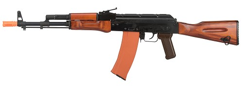 GHK GK74 AK47 Full Metal GBB Airsoft Rifle w/ Real Wood Furniture (BLACK)