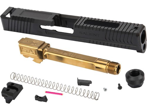 G&P Steel Slide for EMG SAI BLU Gas Blowback Training Pistols - Gold Barrel