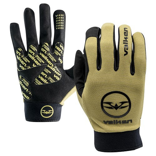 Valken Bravo Full Finger Gloves - TAN - (SMALL)