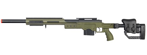 WELL M24/M28 BOLT Action Rifle w/ Folding Stock - GREEN