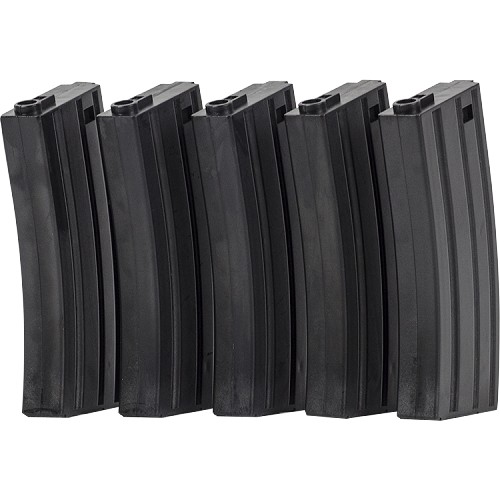 Valken Mid-CAP Thermold-140rd-5 pack - BLACK