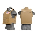 Lancer Tactical VA-302TN Body Armor Vest - TAN