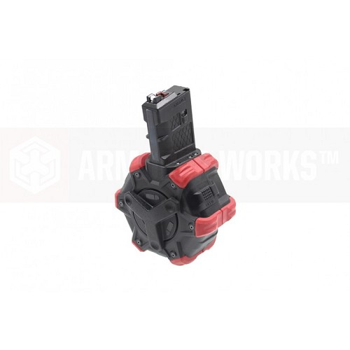 AW Custom Drum Magazine for WE M4 Gas Blowback - 350rd