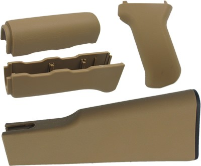 King Arms AK47 Tactical Handguard Grip and Stock Set - TAN