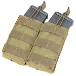 ESKI - Double Open Top M4 Mag Pouch (TAN)