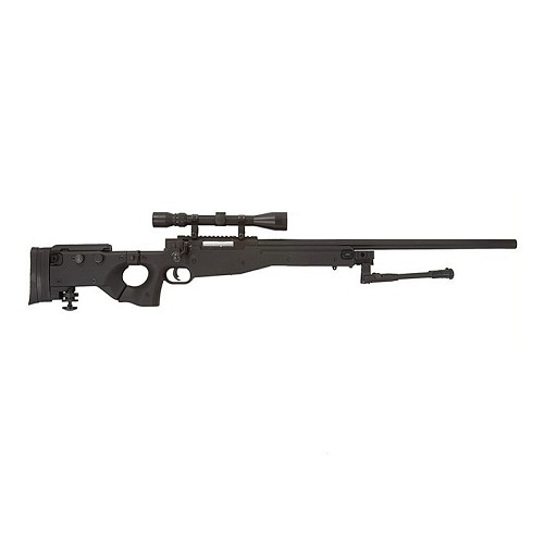 WELL L96 AW .338 Sniper Rifle with Scope and Bipod (MB08D) - Black