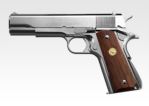 Tokyo Marui M1911A1 Government Mk IV Series 70 GBB Pistol (NICKEL)