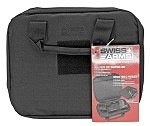 Swiss Arms Soft Two Pistol Case - BLACK