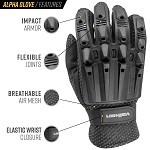 Valken Alpha Full Finger Gloves - Black - (MED)