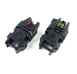 APS Gen 2 Rhino Folding Fibre Optic Iron sights set - BLACK