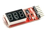 2-6 cell Lipo Digital Battery Voltage Checker