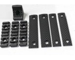 E&C SR-16 URX3 Plastic Rail Set with Covers - Black