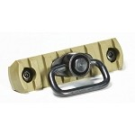 APS M-LOK Plate with QD Sling Swivel - Tan