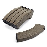 King Arms AK 70 rds Waffle Pattern Magazines Box Set (5pcs) - DE